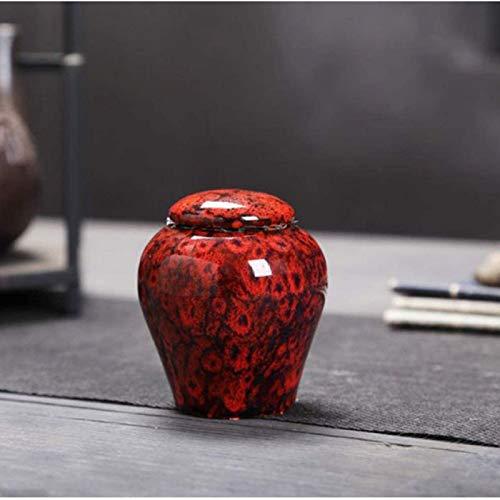 LILIS URNA Invitación URNAS para Adultos - Hecho a Mano de cerámica grabada a Mano - urna de entierro AD en casa, 6 × 6 × 8cm. (Color : A)