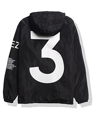 mymotto- Herren Windjacke Kapuzenjacke Sweatshirt Streetwear Unisex Outerwear Wasserdicht Jacke Windbreaker