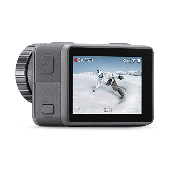 "Dji osmo action - 4k action cam 12mp digital camera with 2 displays 36ft underwater waterproof wifi hdr video 145° angle… 4 dual screens: osmo action's dual screens allow you to capture it all with the touch of a button. A vivid front screen lets you frame yourself effortlessly in any setting, while the back screen delivers a crystal-clear, hyper-responsive display. This durable, versatile action camera is jam-packed with advanced technology that lets you spend less time worrying about equipment and more time living the action. The rocksteady technology combines eis with complex algorithms, delivering stable, shake-free footage no matter how heavy the action gets. Action camera with 1/2. 3"" cmos sensor, 12mp, wide-angle 145° that allows you to shoot 4k hdr videos."