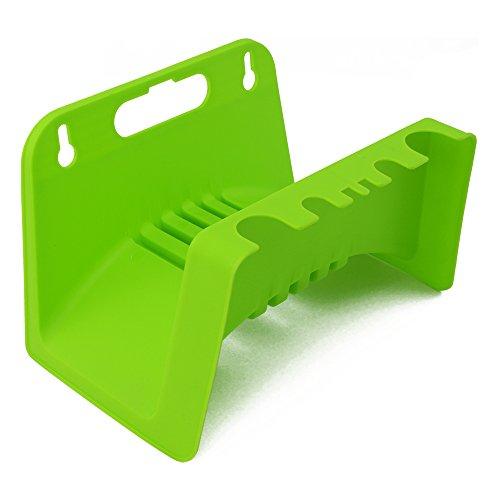com-four® Support de Tuyau d'arrosage - Support de Tuyau pour Jardin, sous-Sol et Remise - Support Mural pour Tuyau de Jardin (1 pièce - Vert)