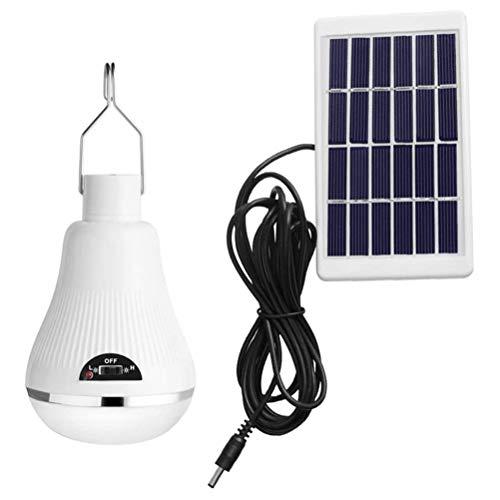 Bombilla solar, lámpara solar, luces solares LED, proyector portátil, luz solar con iluminación de panel solar, lámpara colgante para acampar al aire libre, senderismo, pesca, caseta de jardín, 10w