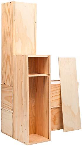 Mabouteille – Cassetta in legno a scorrimento capacità 1 Magnum di Bordeaux, Borgogna o Champagne 1,5 L – Set di 4