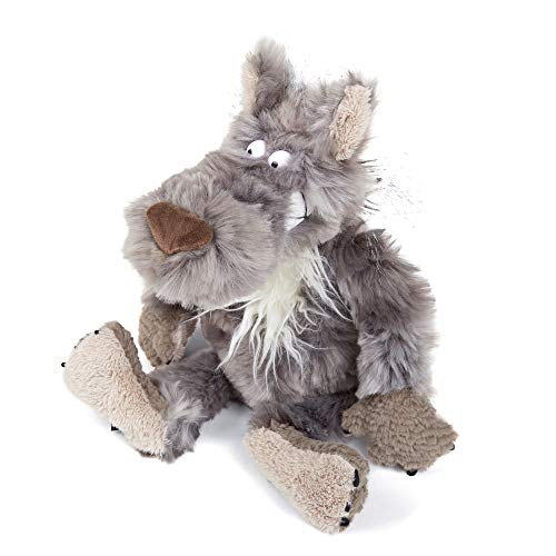 Sigikid 38929 Stofftier für Erwachsene und Kinder, Wolf, Casual Friday, BeastsTown, 38929