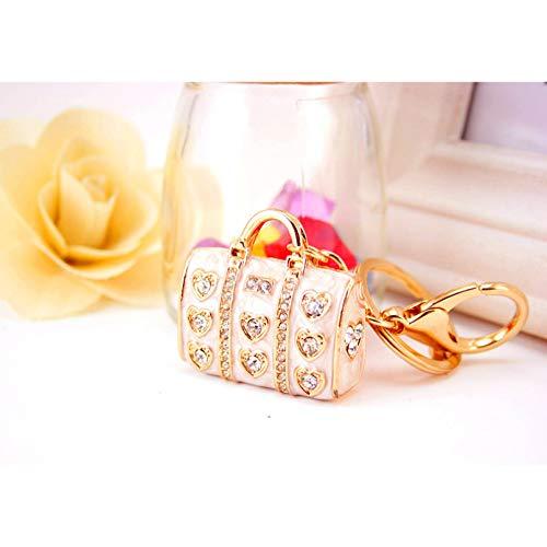 HONGYAN Schlüsselbund Schlüsselanhänger ,Kreative niedliche Farbe Damen Handtasche Tasche Schlüsselbund tropft Öl Prozess Auto Schlüsselbund Metall Anhänger kleines Geschenk 10 cm