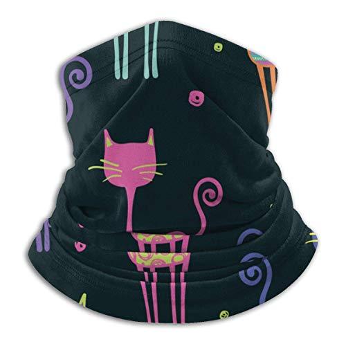 ASDAH Abstract naadloos kindvriendelijk neonkleurig design op achtergrond voor meisjes stijlvolle fleece halsverwarmer-magische hoofdband