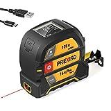 PREXISO Laser Tape Measure, 2-in-1 Laser...