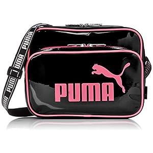 [プーマ] PUMA 横型エナメルミニショルダーバッグ J20072 ECLA エラ エナメル ミニ ショルダー バック 横型 ブラックピンク [並行輸入品]