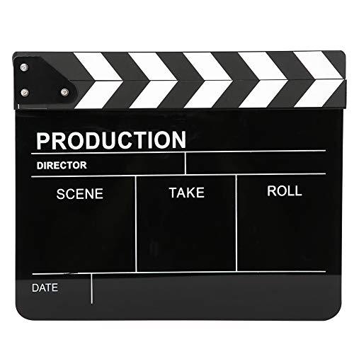 T osuny Claqueta acrílica de 30x25 CM, Director de Cine Profesional, acción,...