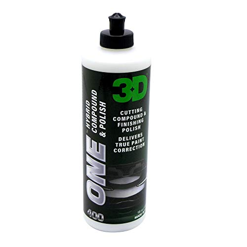 3D One  Professional Cutting Polishing and Finishing Compound 16 Oz for Paint Correction Auto Detailing and Buffing