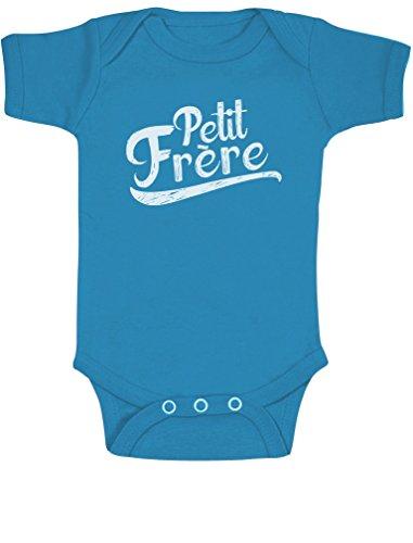 Green Turtle T-Shirts Petit frère, Naissance Body Bébé Manche Courte 3-6 Mois Bleu