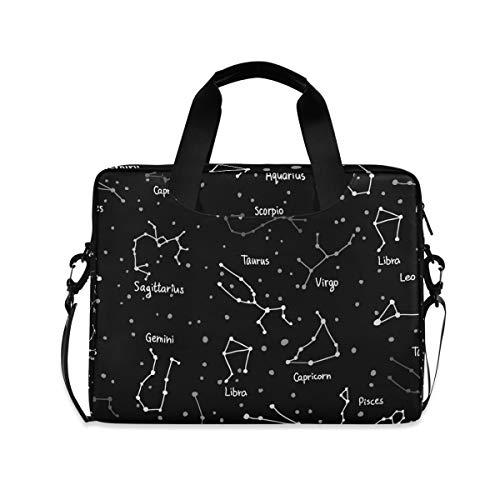 XIXIKO Constellation Galaxy Laptoptasche, erweiterbarer Trolley, Aktentasche für Damen und Herren, mit abnehmbarem Gurt für Arbeit, Reise, Büro, iPad, MacBook