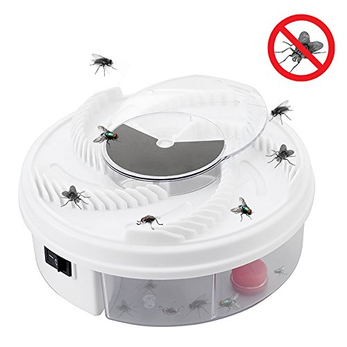 Nargut 1PCS Electric Fly Trap Device with Trapping Food Electric Flycatcher Artifact