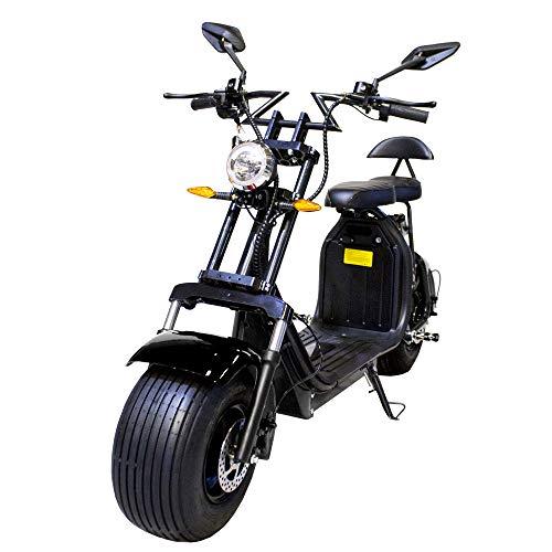 JOLITEC Patinete eléctrico CITYCOCO (8). Potencia de batería 2000W/18.2aH (Doble batería) Versión XI (Negro/Negro)