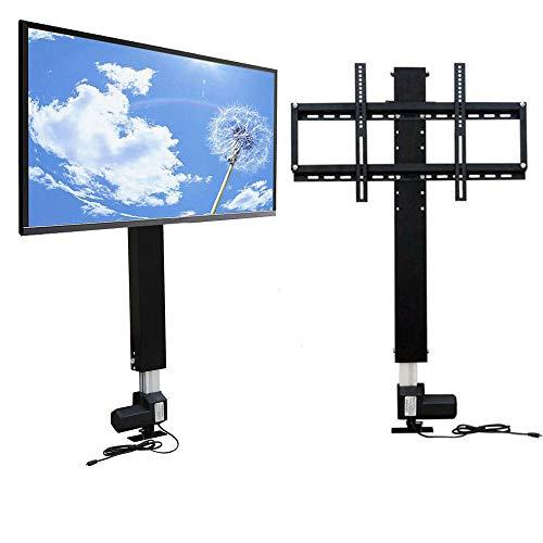 Soporte elevador eléctrico para televisores de 26 a 57 pulgadas, sistema de elevación de 28 pulgadas + mando a distancia, 700 mm, motorizado, ahorra espacio