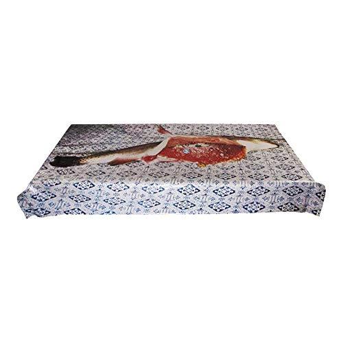 Nappe en Vinyle + Coton imprimée Toiletpaper 140 x 210 cm - Poisson