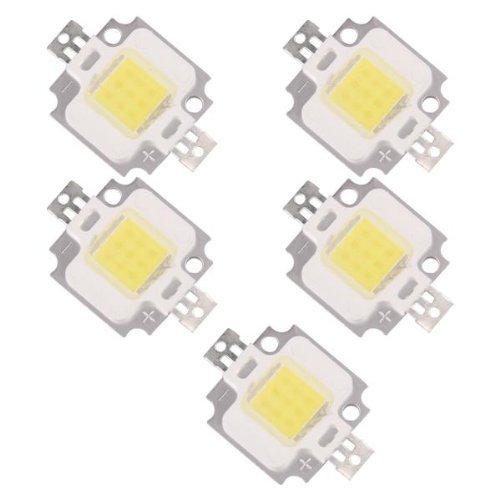 SODIAL(R) 5X 10W LED Bombilla Lmpara Luminosa Luz Blanca 9-12V 20000K