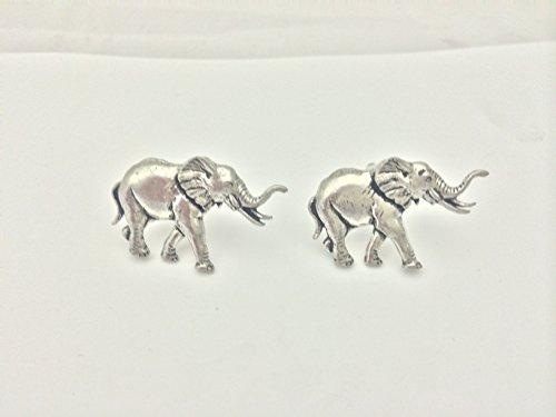 Boutons de manchette – Éléphant étain anglais Boutons de manchette refa20 Livré avec une marque de commerce prideindetails Logo
