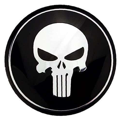 Onsinic 1pc Autoadesivo 'Automobile del Punisher Skull Sticker Auto Hood Distintivo 'Emblema Ornament Skull Car Emblem Decal Sticker Auto