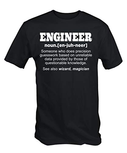 6TN Lustig Ingenieur T-Shirt - Schwarz, XL