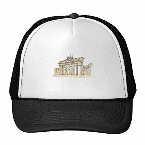 DIYthinker Brandenburg Tür in OST-Deutschland Trucker-Mütze Baseballmütze Nylon Mütze Kühle Kind-Hut-Justierbare Kappe Geschenk Kinder