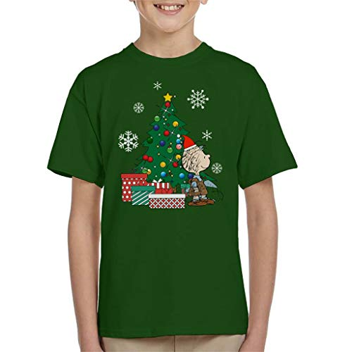 Pig Pen Peanuts Around The Christmas Tree Kid's T-Shirt