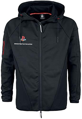 Playstation Tech Männer Kapuzenjacke schwarz L 100% Polyester Fan-Merch, Gaming