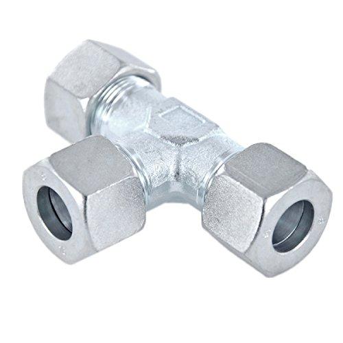 T-Verschraubung Schneidringverschraubung Stahl verzinkt - T 8 S - für 8 mm Rohr