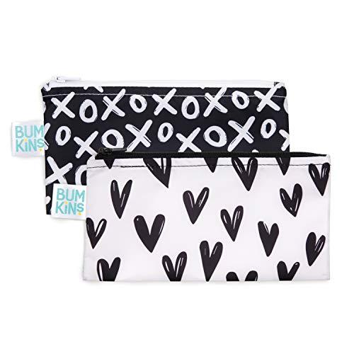 Bumkins Snack Bags Reusable Washable Food Safe BPA Free 2 Pack – XOXO amp Hearts