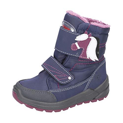 RICOSTA Kinder Snowboots GAREI, Weite: Mittel (WMS),wasserfest,waschbar, gefüttert wasserfest Kids Maedchen toben,Marine/Nautic,34 EU / 2 UK