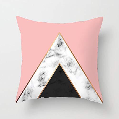 ACYKM Funda cojín Funda Almohada para sofá Impresión Digital Funda Almohada nórdica Dorada en Blanco y Negro con Cintura geométrica, Funda cojín con Textura mármol, Funda para sofá, Fundas Almohada