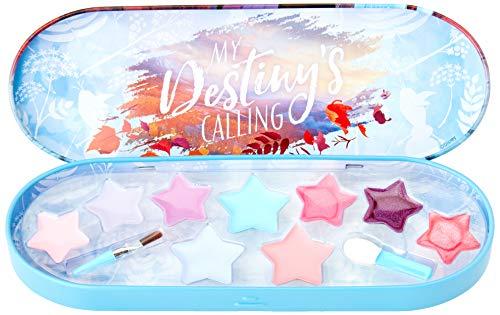 Frozen II 1599001E II Schminkdose - kleine Lipgloss-Dose mit verschiedenen Lipgloss- und Lidschattenfarben und 2 Applikatoren, Mehrfarbig
