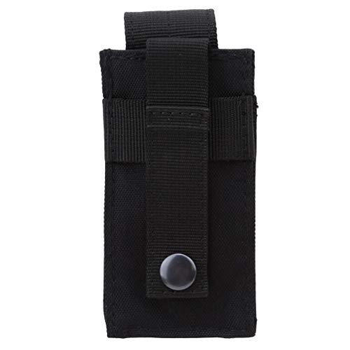 JOMSK Nylon Holster Holder Gürteltasche Tasche Taktische Taschenlampe kleine Taktische Werkzeugtasche, schwarz