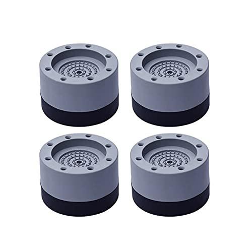 4 unids anti vibración pies almohadillas de goma piernas slighttop Silent Skid Raiser Mat Mat Máquina de lavado Ampliación de amortiguadores (Color : 4pcs 6cm)