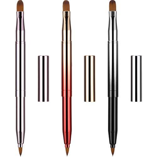 Dual End Lip Brush Concealer Brushes 3 Pieces Retractable Lipstick...
