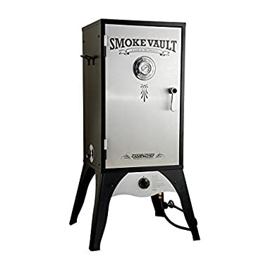 Camp Chef Smoker 18-Inch ​Smoke Vault Large with Stainless Door and Adjustable Shelves (SMV18S)​