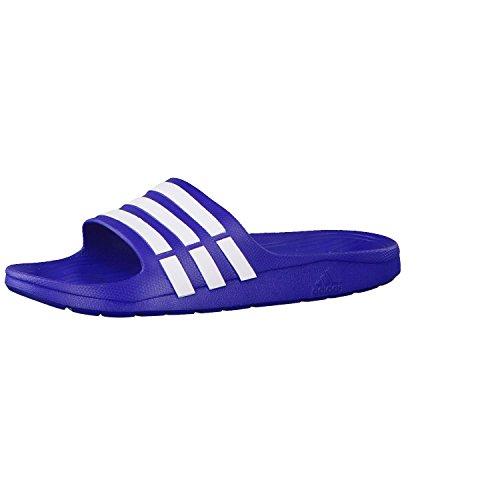 adidas Duramo Slide, Unisex-Erwachsene Dusch- & Badeschuhe, Blau (New Navy/White/New Navy), 47 EU (12 UK)