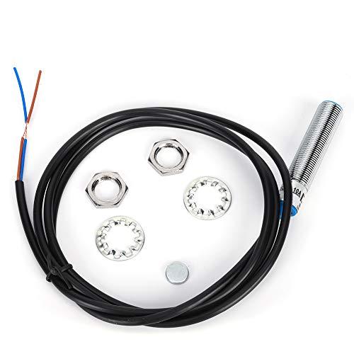 Interruptor de proximidad, CC 0-35V Sensor inductivo normalmente abierto, Carcasa larga de metal magnético pequeño