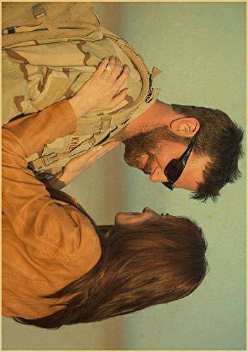 H/F American Sniper Bradley Cooper Movie Retro Canvas Poster DIY Estilo Nórdico Sala De Estar En Casa HD Art Deco Pintura Al Óleo Mural Sin Marco 50X60Cm 4943L