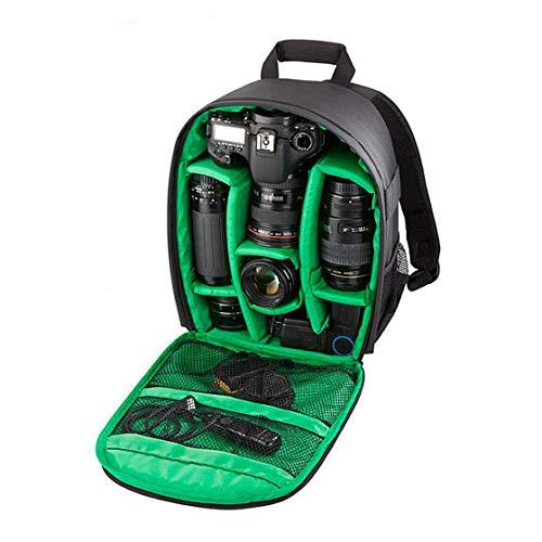 DSGYZQ Bolsa de cámara Digital SLR a Prueba de Agua a Prueba de Agua a Prueba de Golpes Transpirable Pequeña Mochila Bolsa de fotografía al Aire Libre,Verde