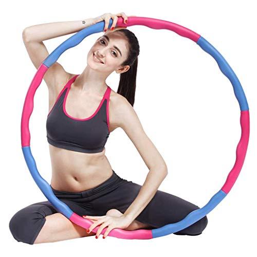 A&DW Sport Hoop, Massage Hoop, Fitnesstraining Sport Hoop Abnehmbar 8 Teile Einfach Zu Montierender Zweireihiger Magnetischer Fitness Hoop Mit Massagenoppen, Blau + Pink