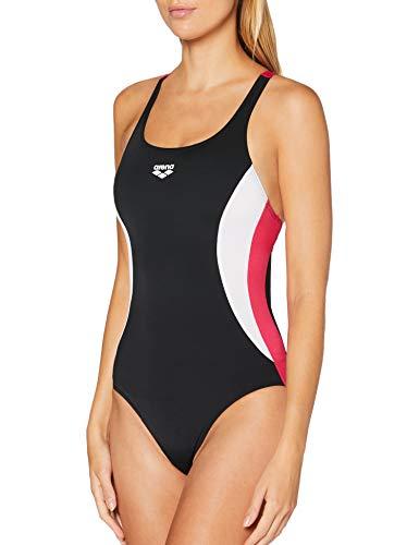 ARENA - Costume da Bagno Sportivo, da Donna, con Doppio Pannello Laterale, Donna, 003160, Nero, FR : 2XL (Taille Fabricant : 48)