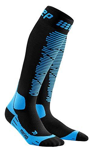CEP – SKI Merino Socks Redesign für Herren | Merinosocken für den Wintersport in schwarz/blau | Größe III