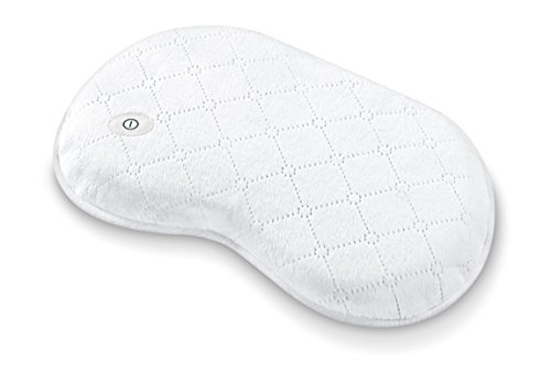 Beurer MG13 Soft Waterproof Bath and Spa Massage Pillow with Vibration for Relaxation, Neck Pain Relief
