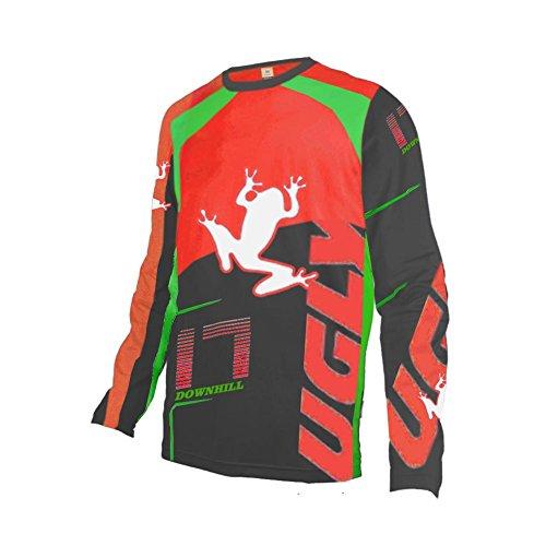 Uglyfrog Hombres Motocross/MTB/Bike/Downhill Jersey Transpirable Shirt Diseños Especiales Ciclismo Maillots V-Cuello o Cuello Redondo