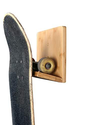 Bamboo Skateboard Wall Rack | The Original Skate Mount for Storing Your Skateboard or Longboard Skate by COR Surf