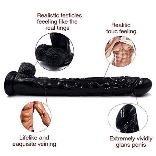 Jiangync 16.53 inches Realistic Soft-Ďîldɔ Women for Women Men Body Massage, Sports Recovery & Muscle Aches Back Body Massage Jiangync (Color : Black)