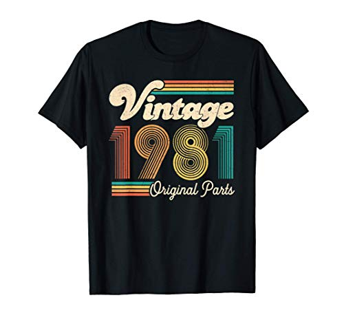 Vintage 1981 40th Bday Regalo Vintage 40 Anni 40 Compleanno Maglietta