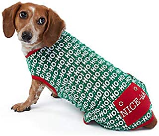 Merry & Bright Holiday Ho Ho Ho Onesie Dog Pajamas~Medium~