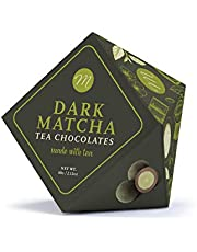 Mi&Cu Gourmet - Bombones de té Matcha con chocolate Negro 70% 60 gr [Pack de 3]