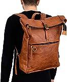 Berliner Bags Rucksack Utrecht XL Kurierrucksack mit Laptopfach aus Leder Fahrradrucksack Trekkingrucksack Damen Herren - 9